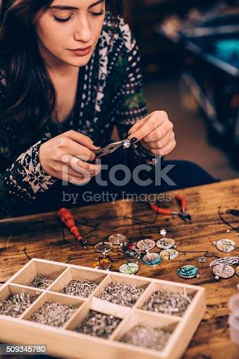 512345816istockphoto Crafting jewelry 509345780