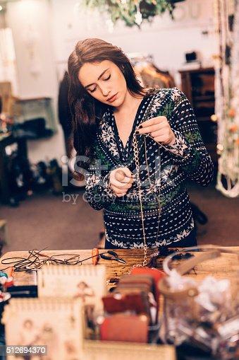 512345816istockphoto Crafting jewelry 512694370