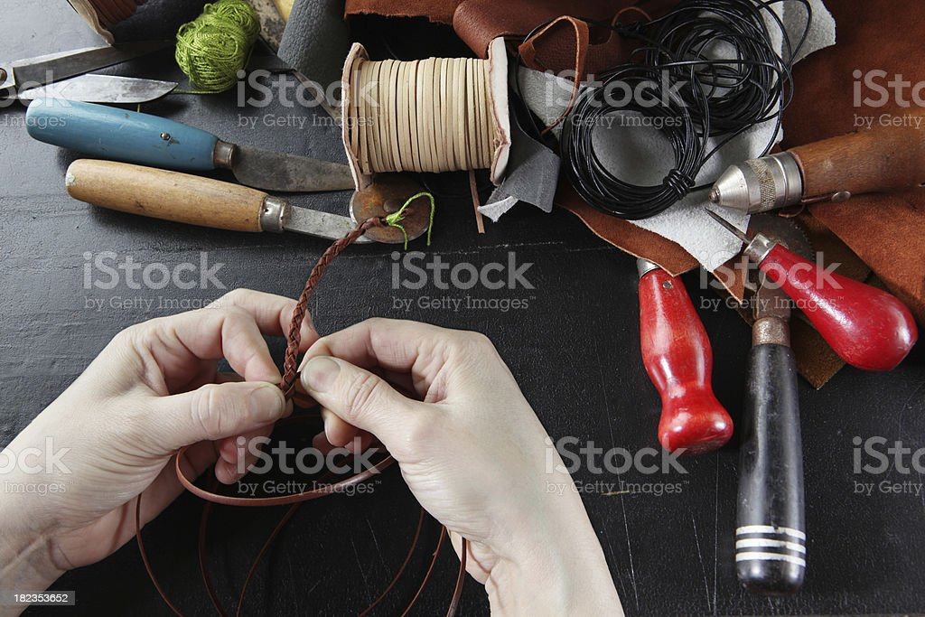 crafts man at work royalty-free stock photo