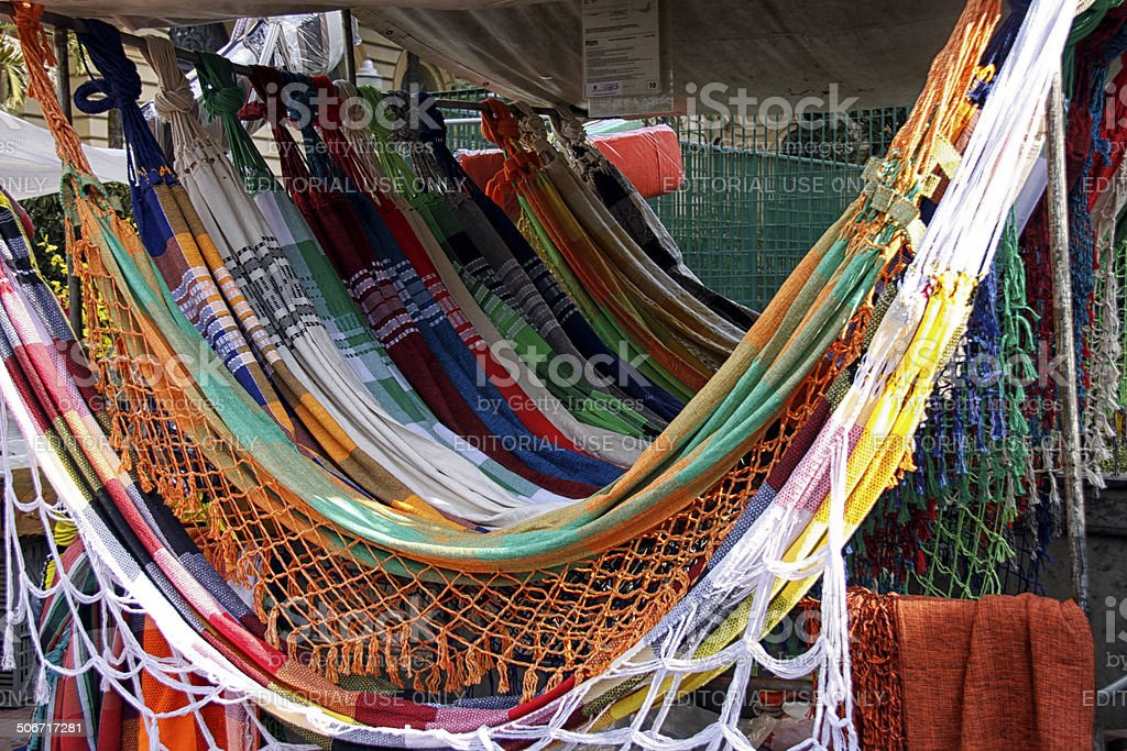 crafts street market in Praça da República stock photo