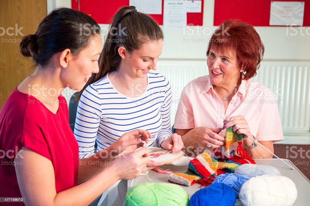 Crafts Together stock photo