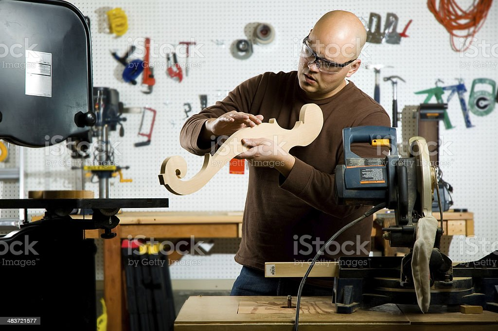 Craftsman at work royalty-free stock photo