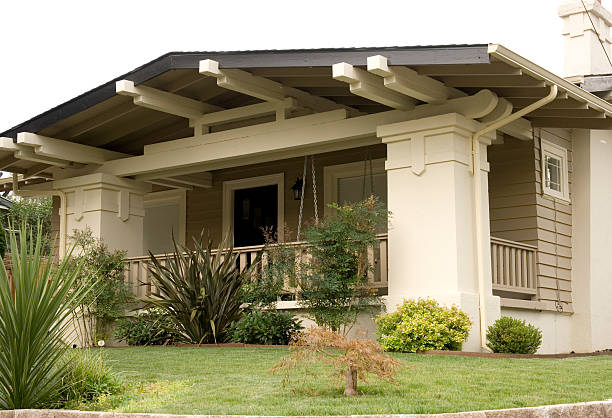 Craftsman Bungalow stock photo