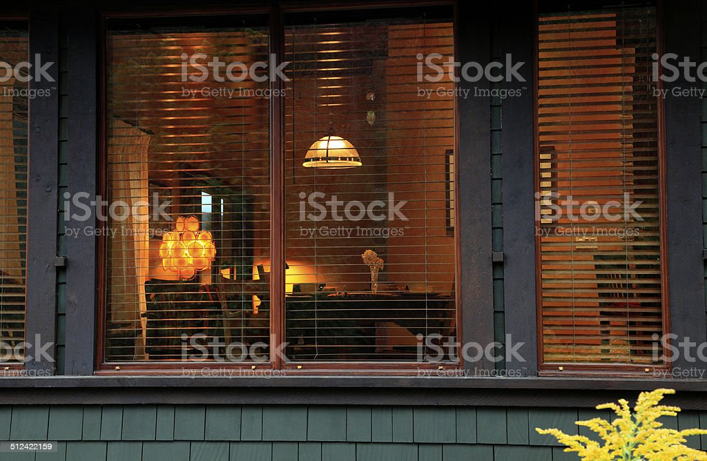 Craftsman Shingle Style Bungalow Outside Looking In stock photo