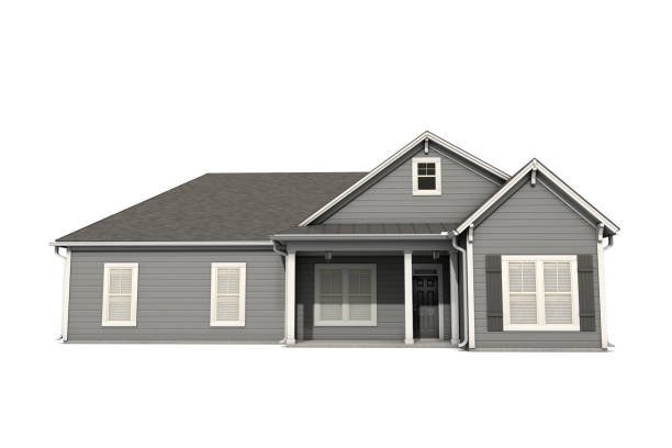 3d us craftsman style house on white background - mphillips007 stock pictures, royalty-free photos & images