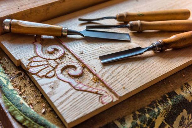 Handwerker-Tools - Chiesels in der Werkstatt – Foto