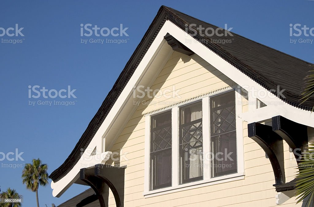 Craftsmen House Roof royalty-free stock photo