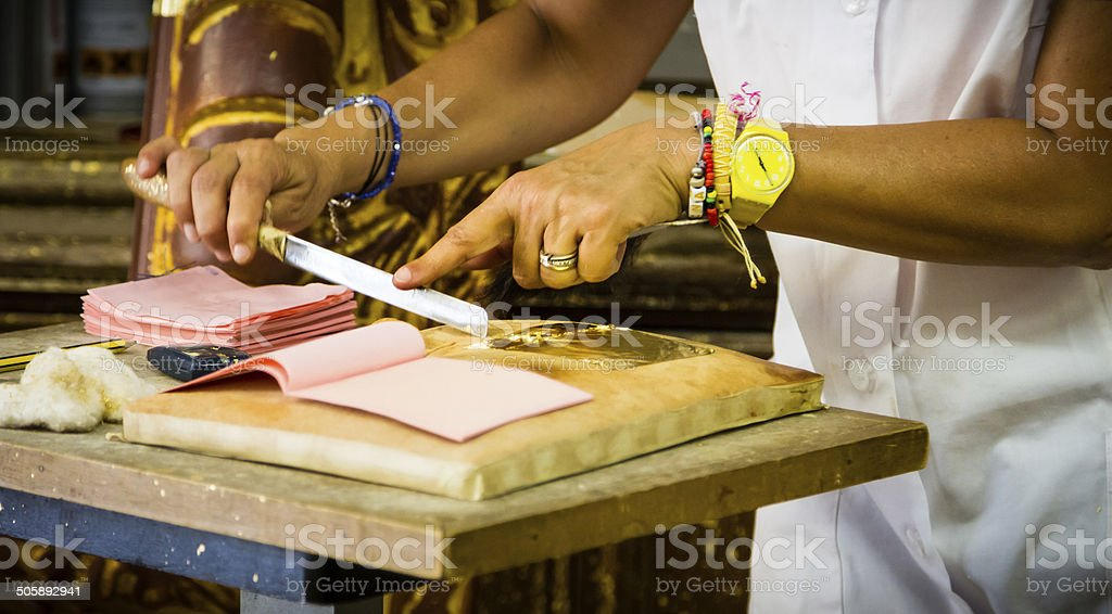 Craftswoman's Hands stock photo