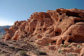 Amazing rock formation at sunset in Valley of Fire State Park near Las Vegas, Nevada USA.