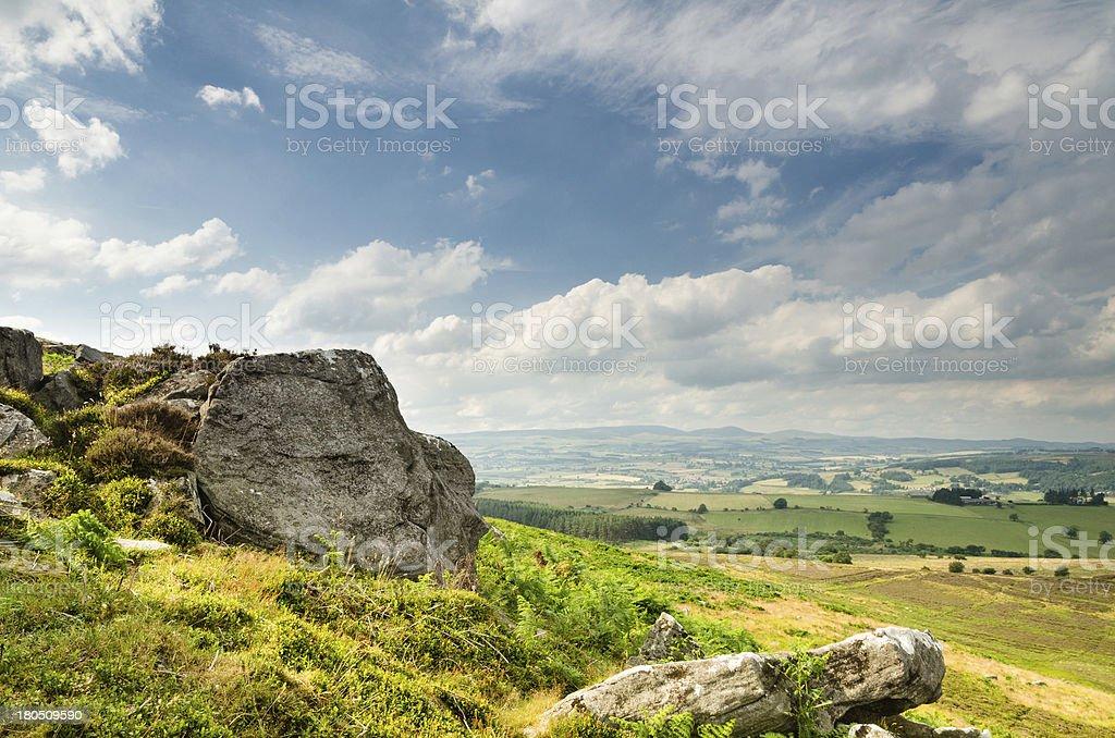 Crags on Simonside Hills stock photo