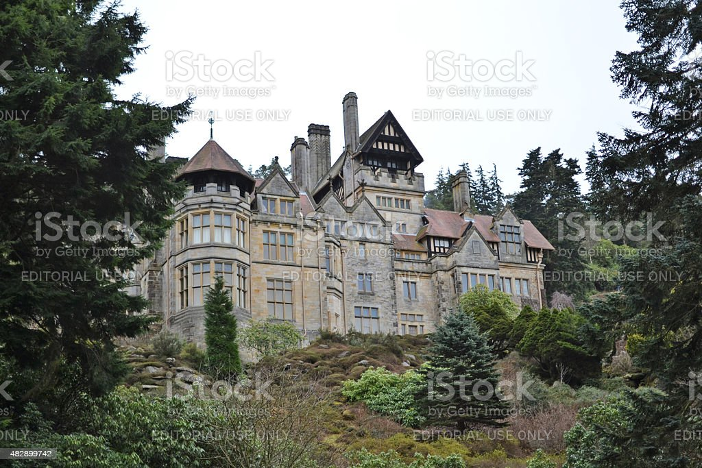 Cragside Garden View stock photo