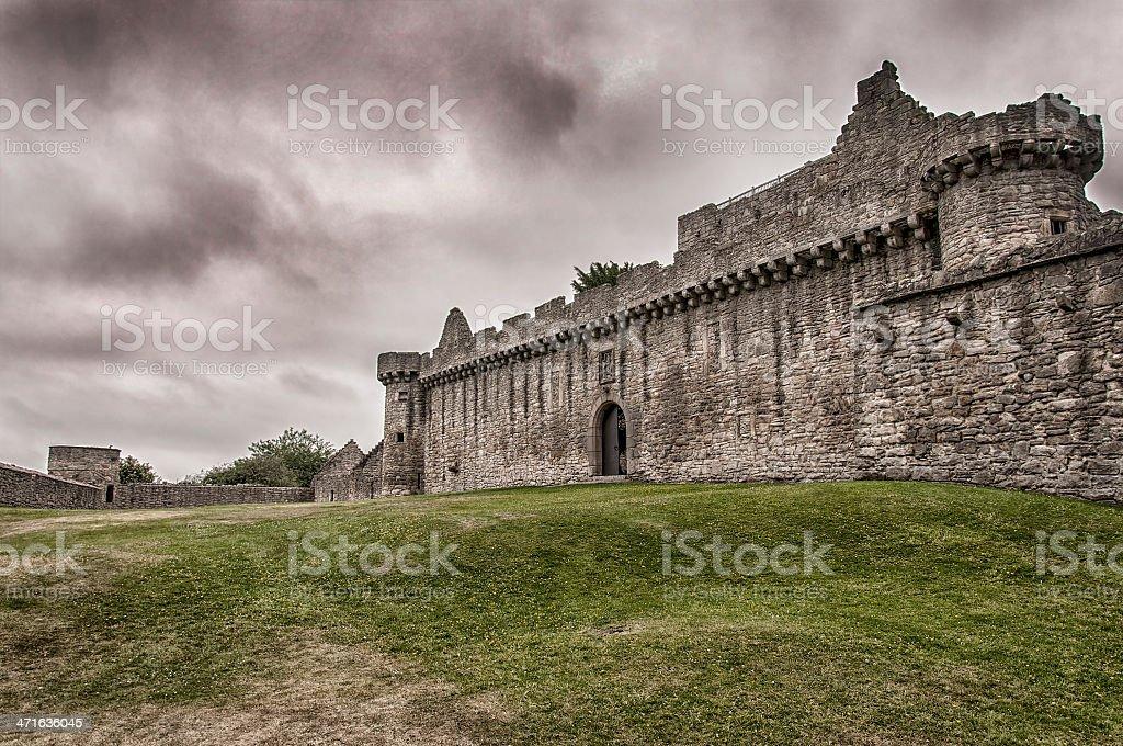 Craigmillar Castle stock photo