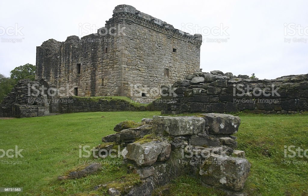 Craignethan Castle Keep royalty-free stock photo
