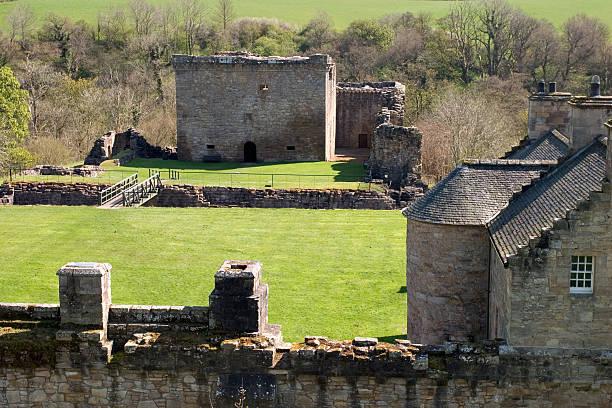 Craignethan Castle stock photo