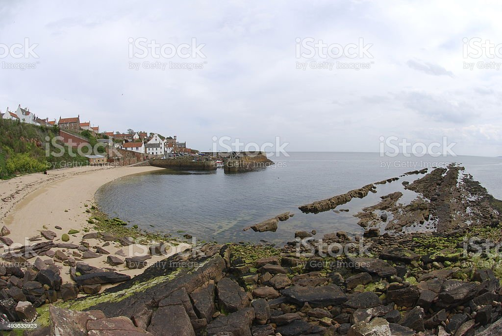 Crail Beach and Harbour stock photo