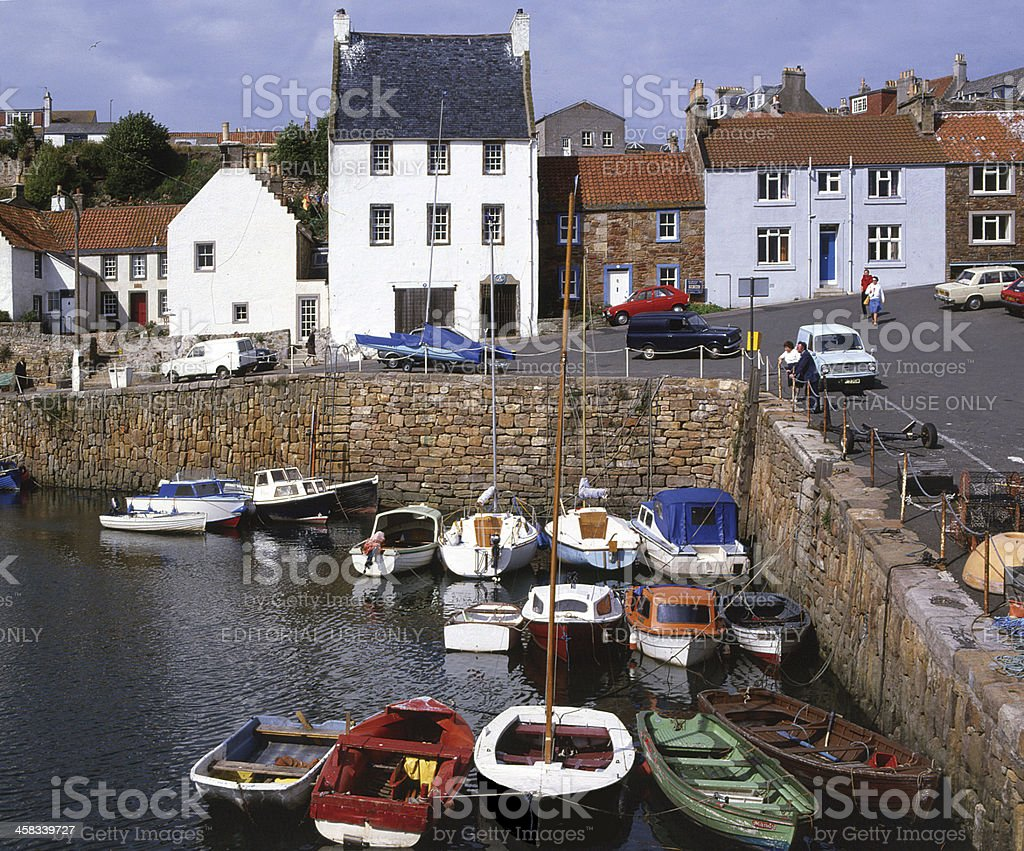 Crail Fife, The Harbour, Scotland stock photo