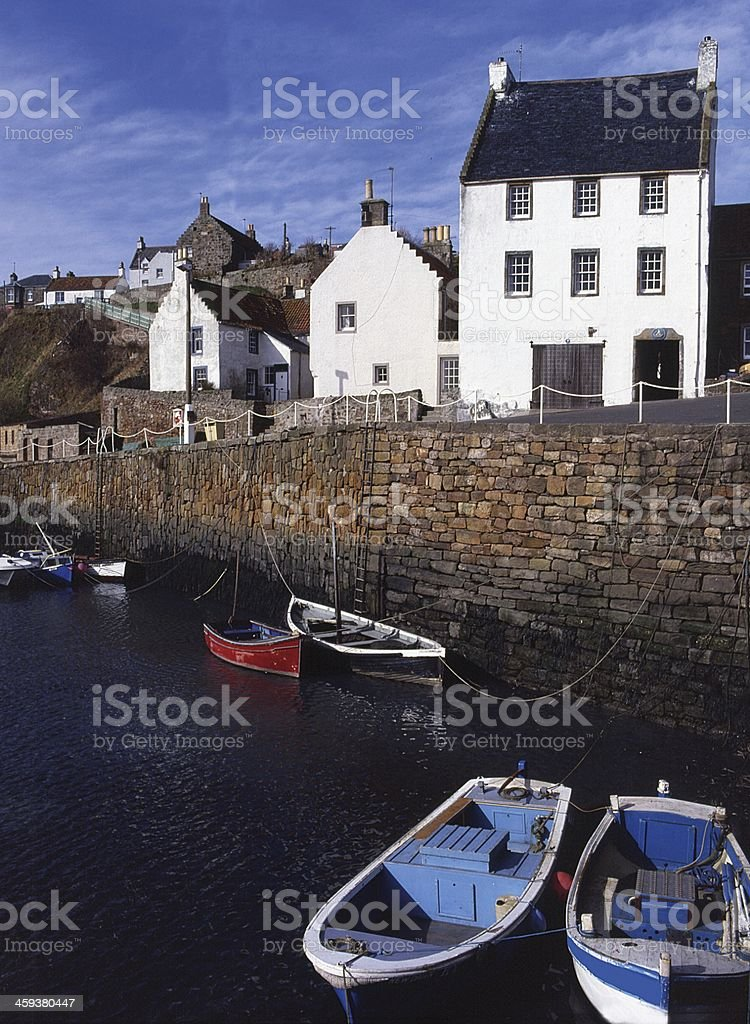 Crail Fife The Harbour Scotland stock photo