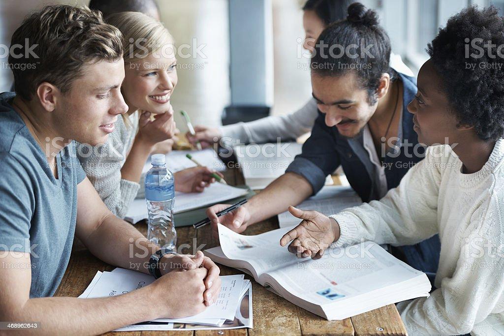 Cramming before an exam stock photo