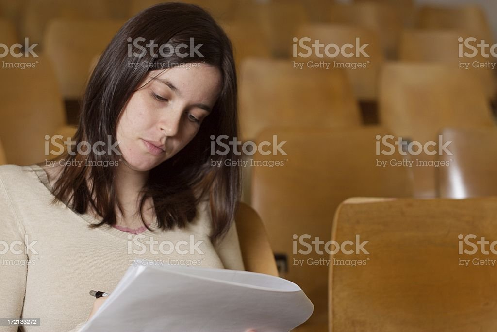 Cramming royalty-free stock photo