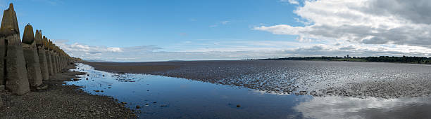 Cramond Beach stock photo