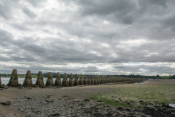 Cramond Island during low tide stock photo
