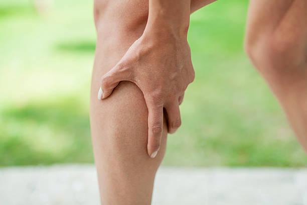 Krampf im Bein Waden während sports activity – Foto