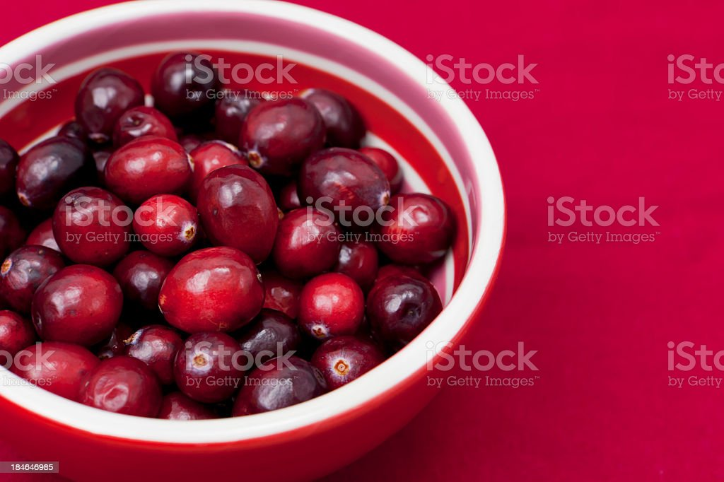 Cranberries in a bowl royalty-free stock photo