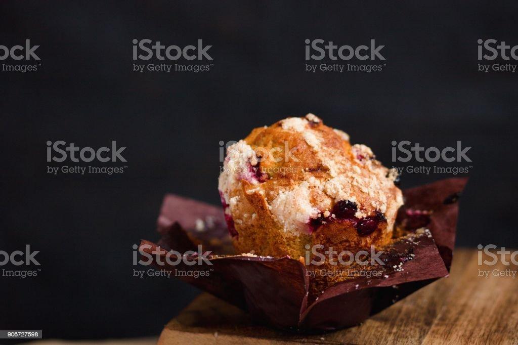 Cranberries muffin stock photo