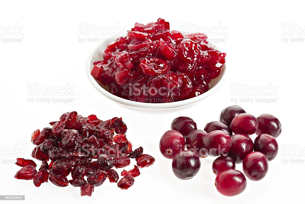 Cranberries Three Ways royalty-free stock photo