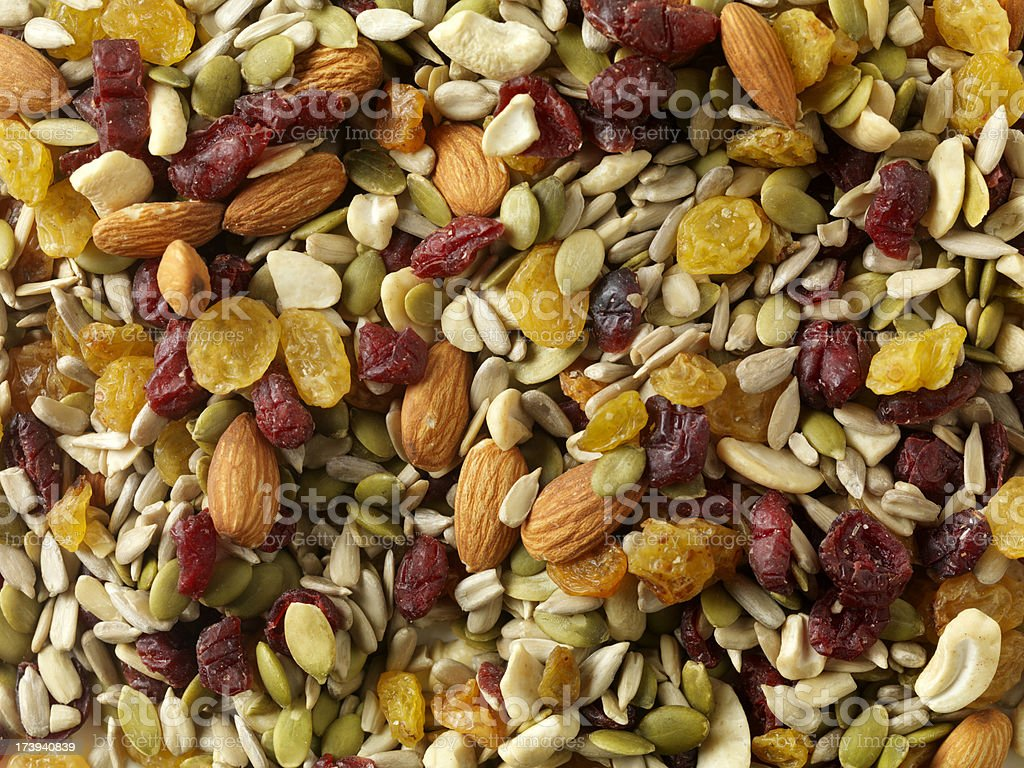 Cranberry and Almond Trail Mix stock photo