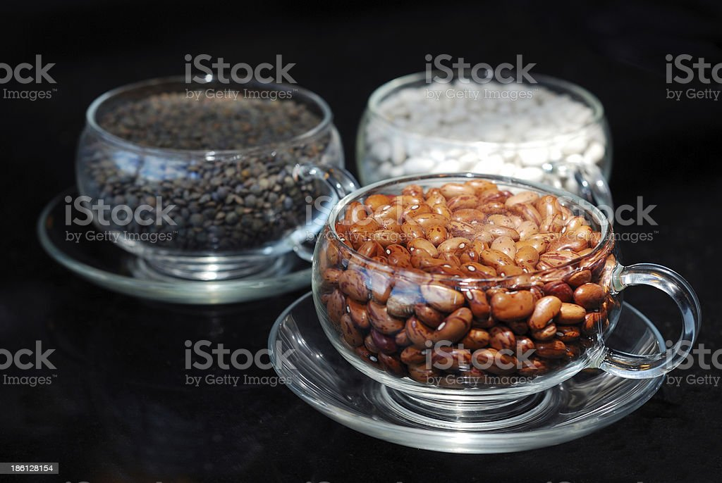cranberry bean cup royalty-free stock photo