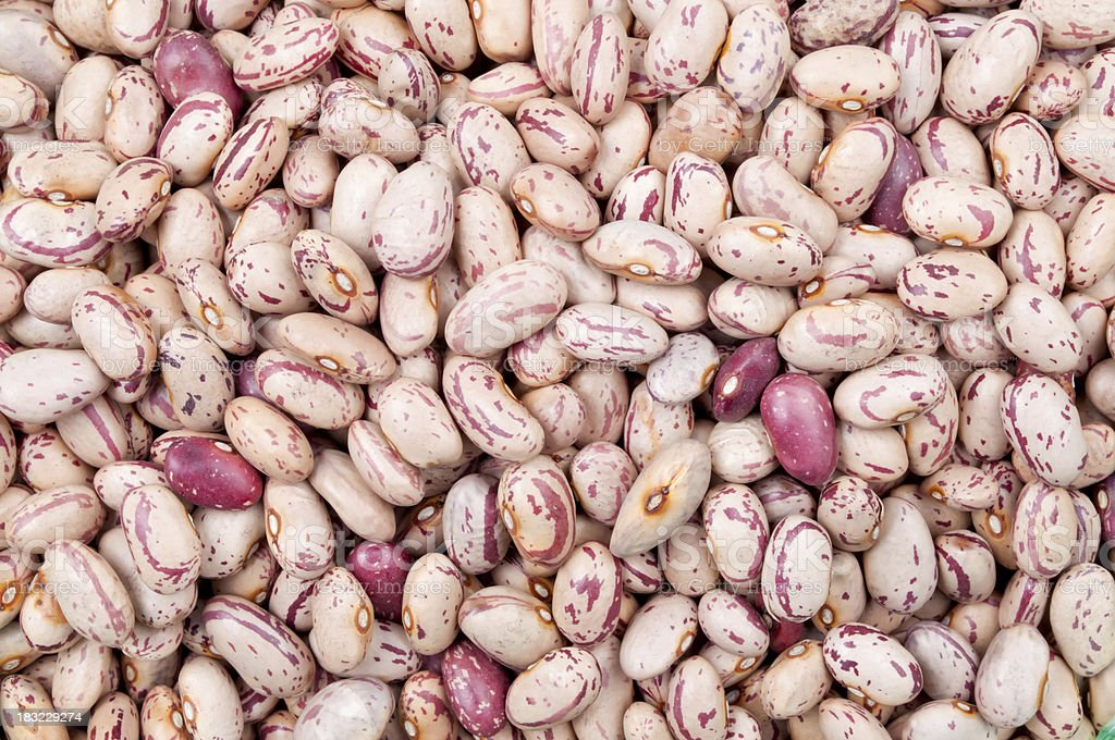 Cranberry beans background stock photo
