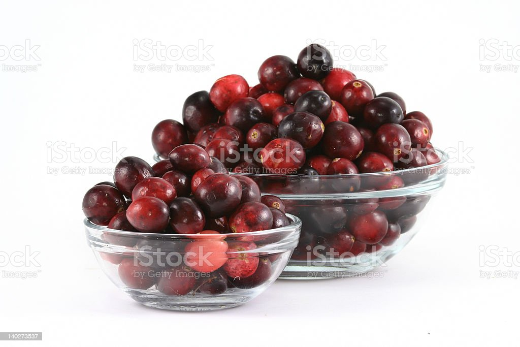Cranberry Bowls stock photo