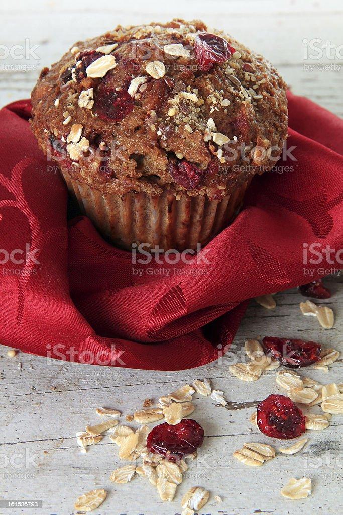 Cranberry bran muffin stock photo