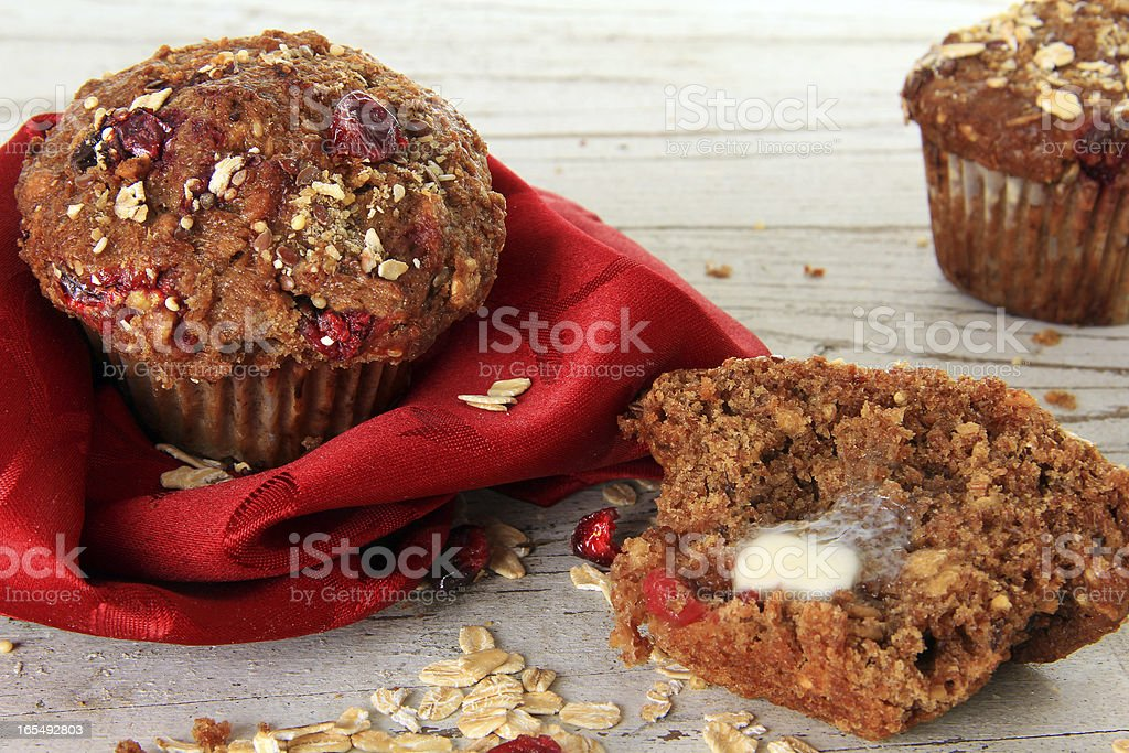 Cranberry bran muffin royalty-free stock photo
