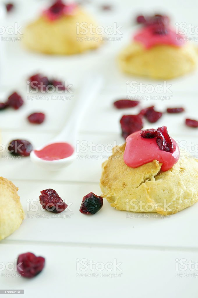 Cranberry Cookies with icing royalty-free stock photo