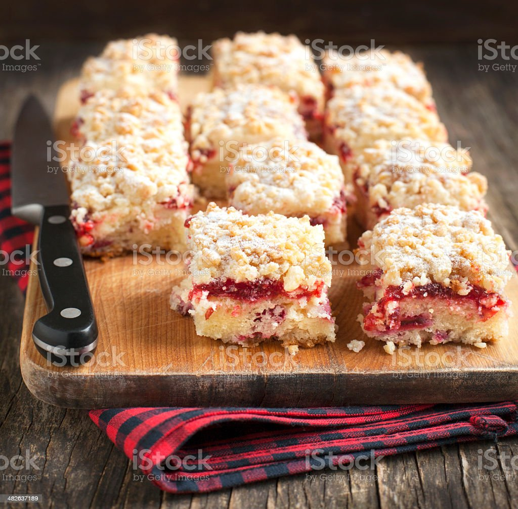 Bolo de café e queijo creme de Cranberry - foto de acervo