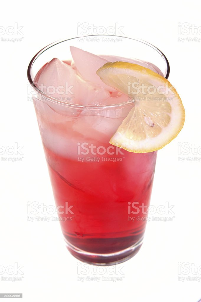Cranberry Drink with Twist of Lemon royalty-free stock photo