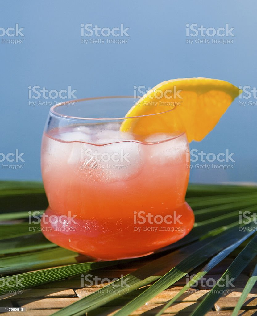 Cranberry fizz served outside royalty-free stock photo
