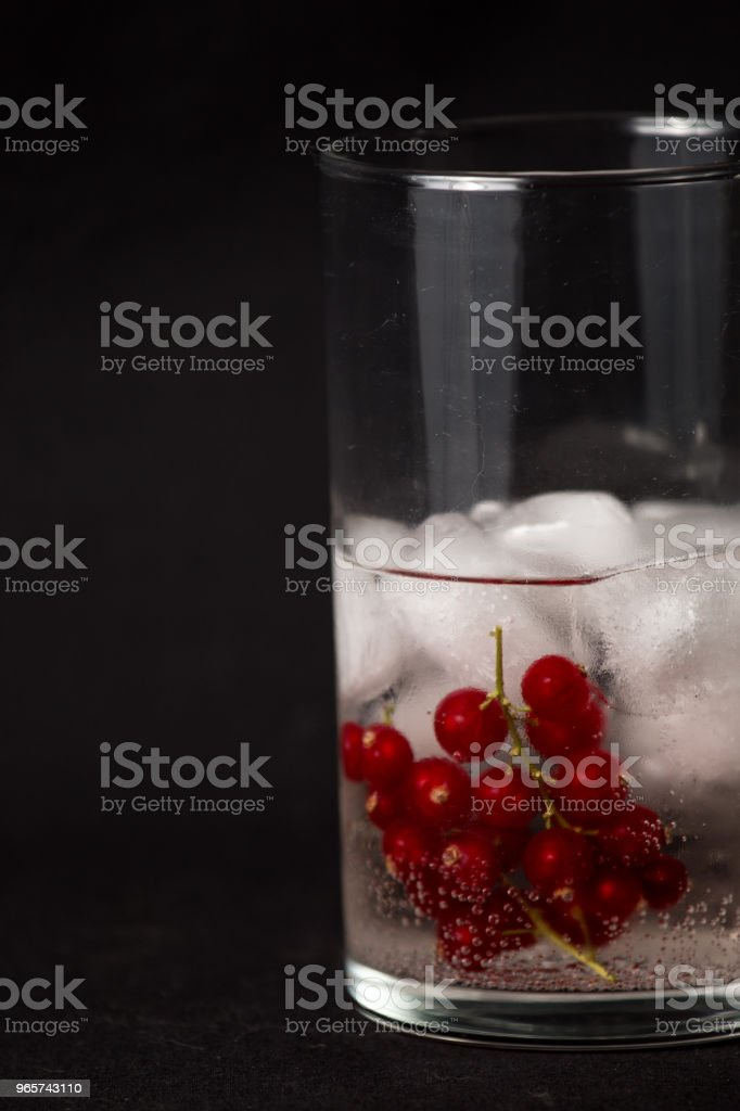 Cranberry gin and tonic - Royalty-free Candy Stock Photo