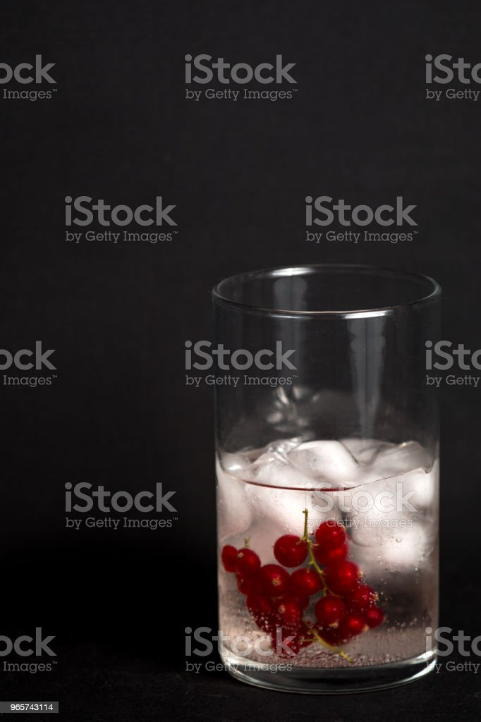 Cranberry gin en tonic - Royalty-free Close-up Stockfoto