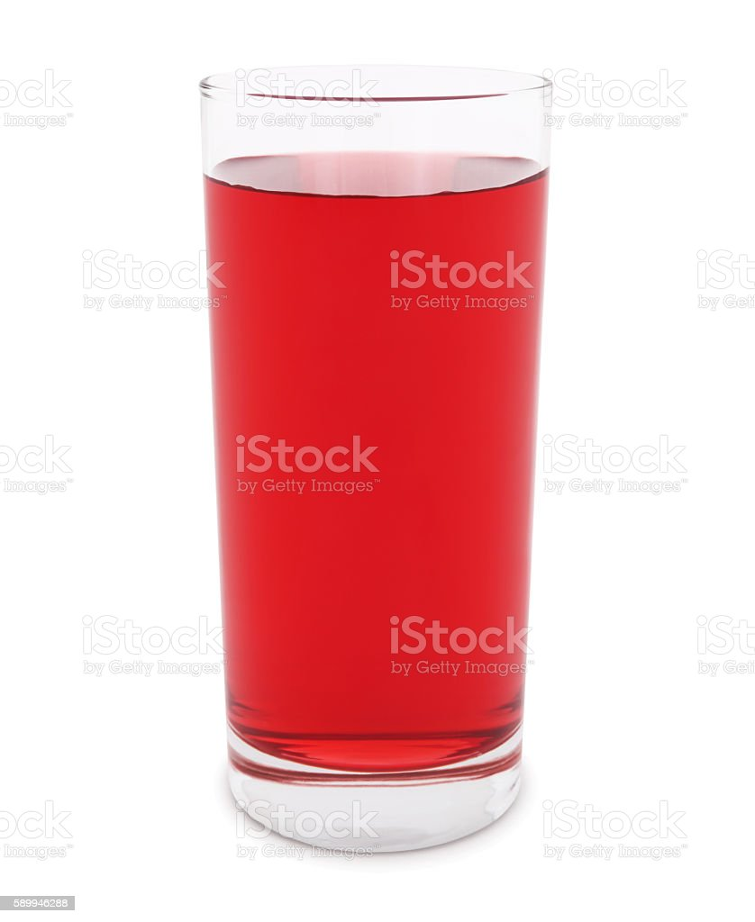 Cranberry Juice (with path) stock photo