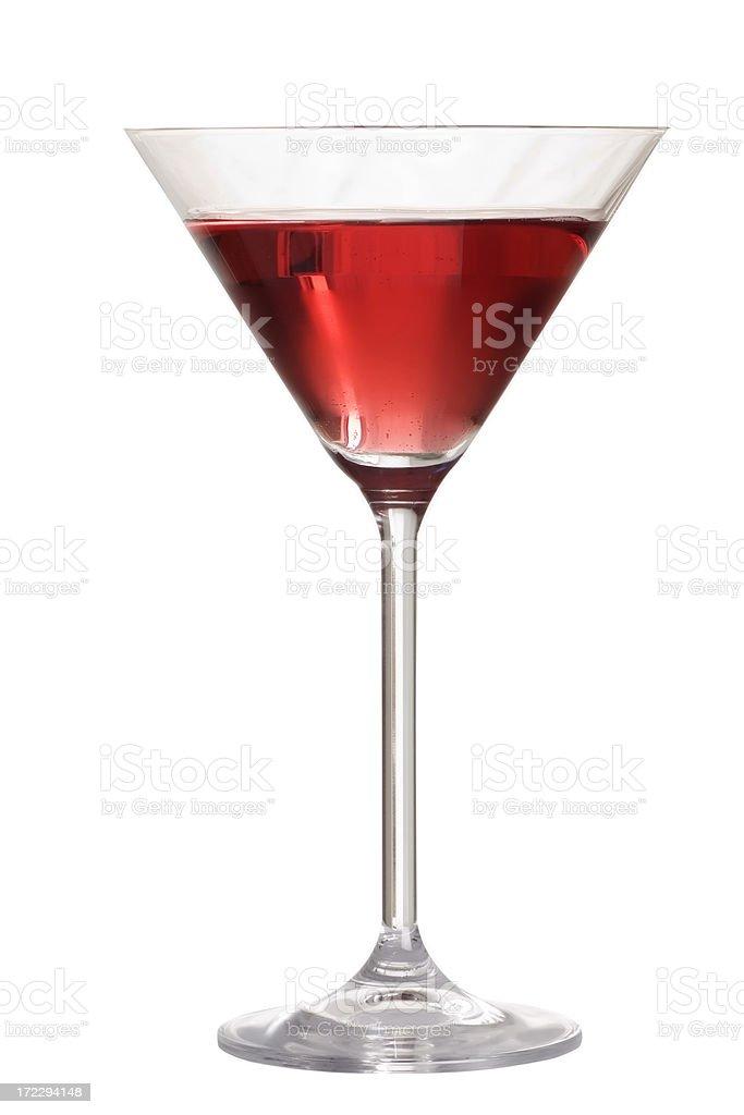 Cranberry Martini, Martini glass. stock photo