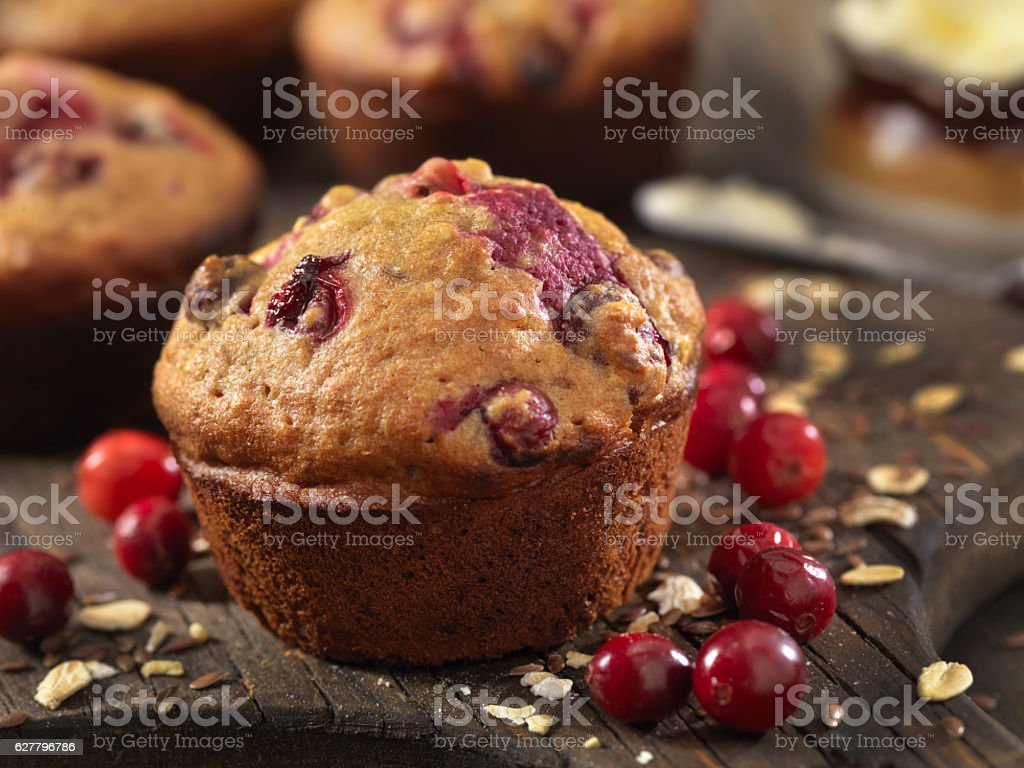 Cranberry Muffins stock photo