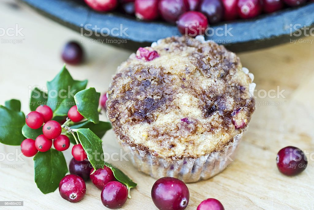 Cranberry Muffins royalty-free stock photo