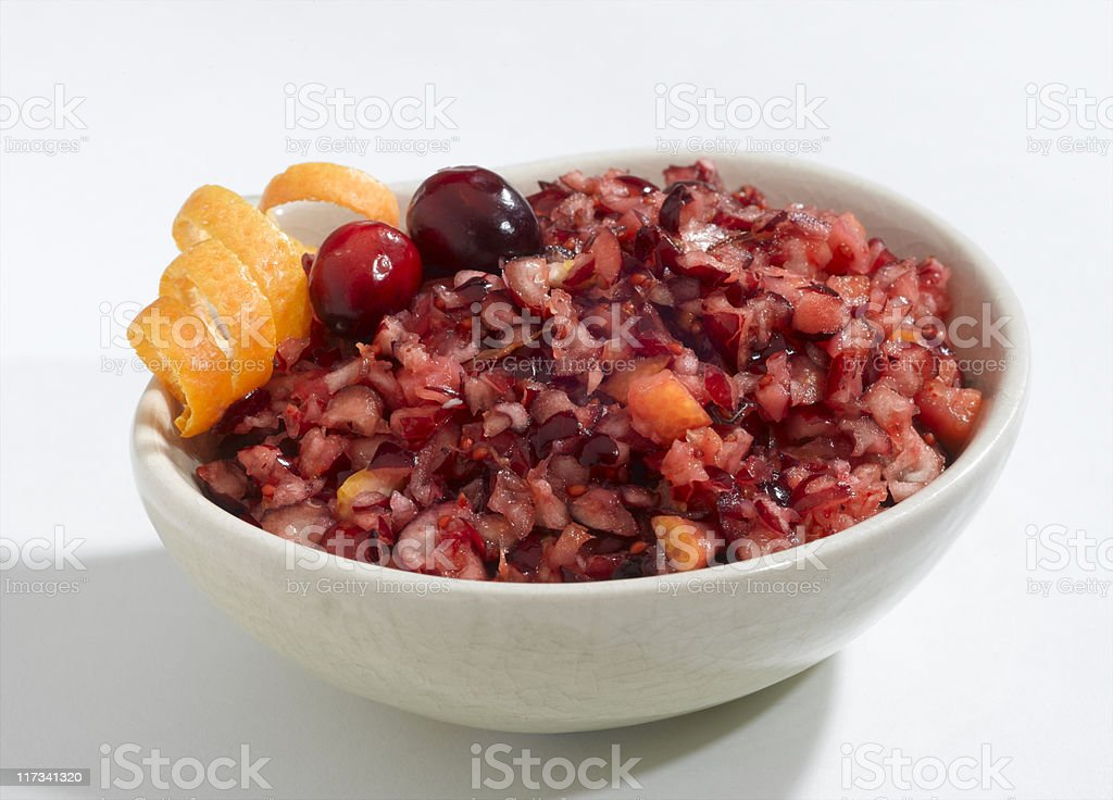 Cranberry Orange Relish stock photo