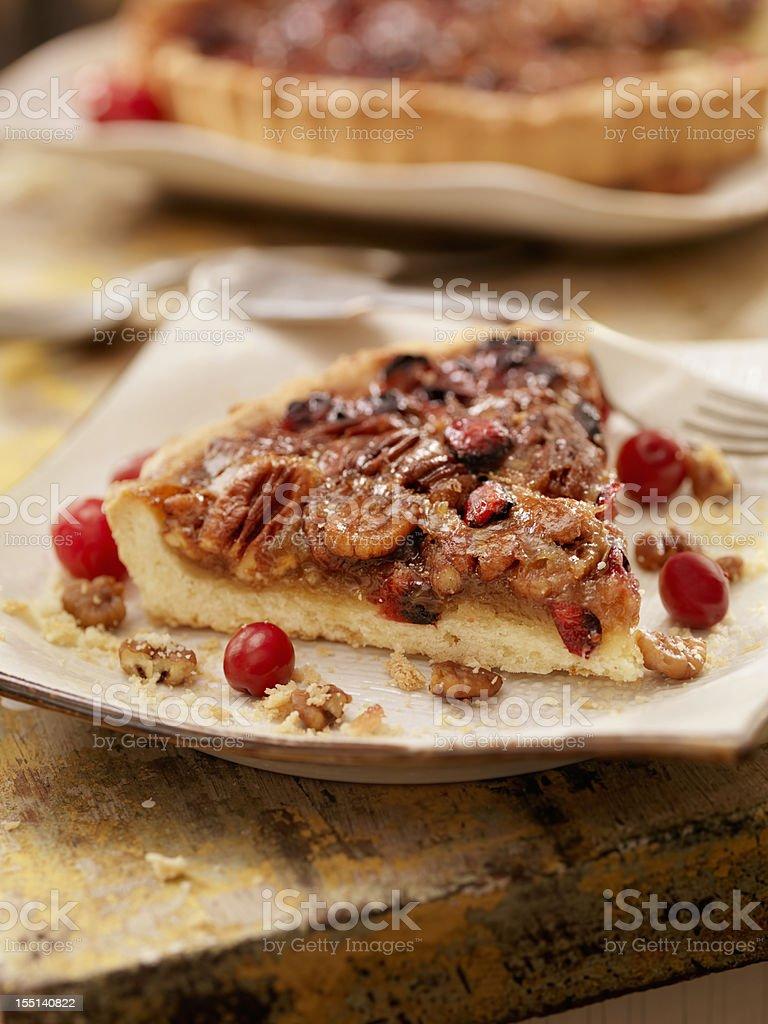 Cranberry Pecan Crostata royalty-free stock photo