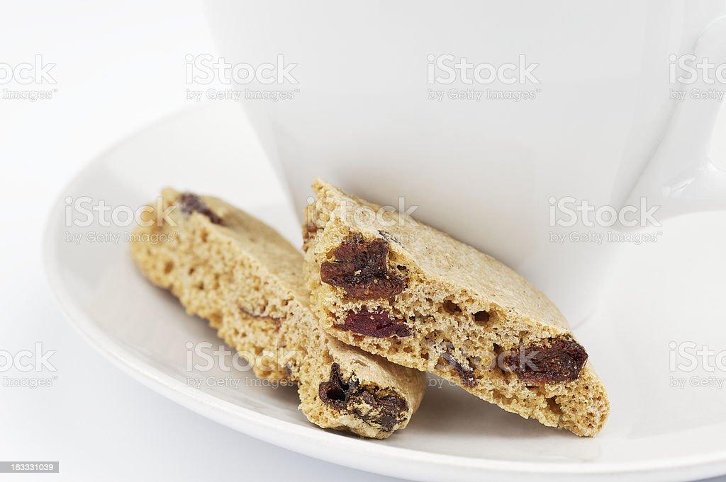 Cranberry Raisin Biscotti royalty-free stock photo