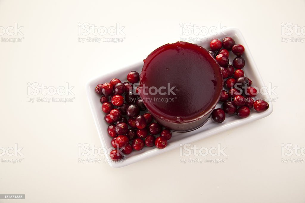 Cranberry Sauce on White stock photo
