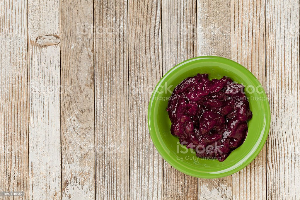 cranberry sauce royalty-free stock photo